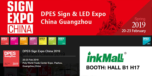 InkMall Invitation for 2019 DPES Sign Expo and Print Expo