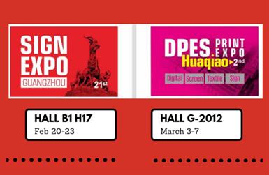 Invitación InkMall para la DPES Sign Expo 2019 y la Expo Print